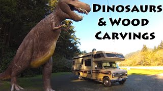 DINOSAURS & Roadside Wood Carvings