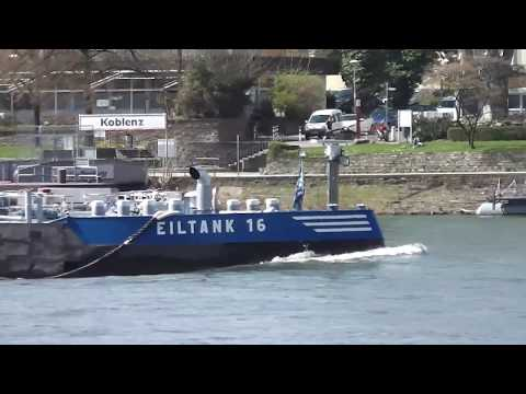 Liquid cargo ship EILTANK 16 cruise on the Rhine