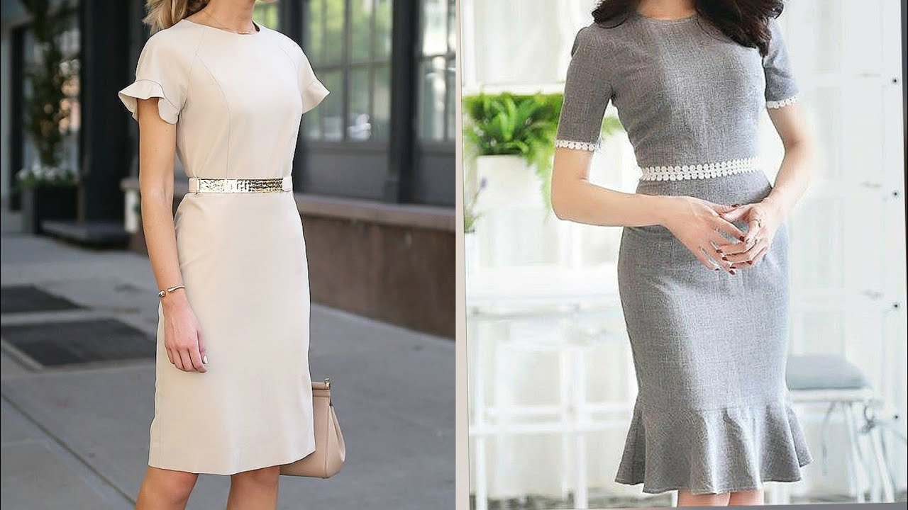 Gorgeous and most stunning office wear bodycon and shift dresses desings and ideas for healthy women