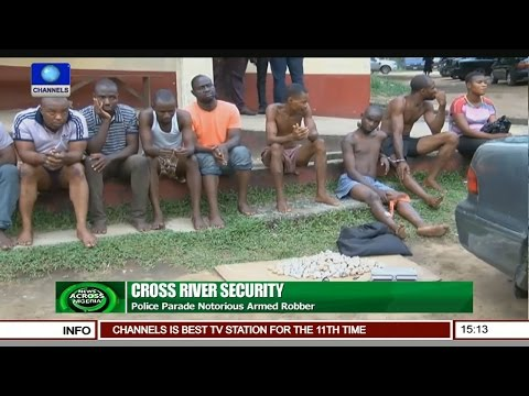 News Across Nigeria: Police Parade Notorious Armed Robber In Cross River
