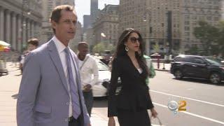 Anthony Weiner Appears Before Judge Alongside Estranged Wife Huma Abedin