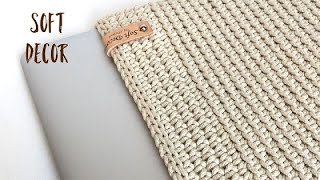 Косметичка из шнура | Вяжем крючком | СБН за заднюю стенку
