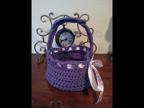 Crochet Quick And Easy Beginner Easter Basket Diy Tutorial Youtube