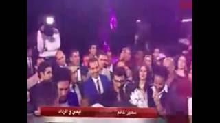 سمير غانم يغنى ل ايمى وحسن فى حفل زفافهم عادل الاكشر