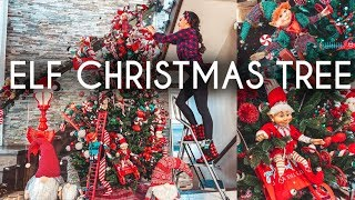 #angiesverymerryparty2019decorate with me | elf christmas candy tree & diy this is part 2 !watch 1 here : https://www./watch?v=nc5v1hk1xegthi...