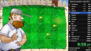 Plants vs Zombies Any% PC Speedrun in 4:12:24 [PB]