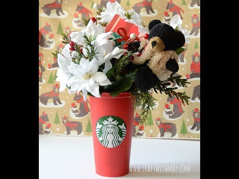 Starbucks Red Cup Gift Card Holder Diy And Arrangement Youtube