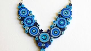 Blue Necklace/ Quilled Necklace/ DIY Paper Necklace