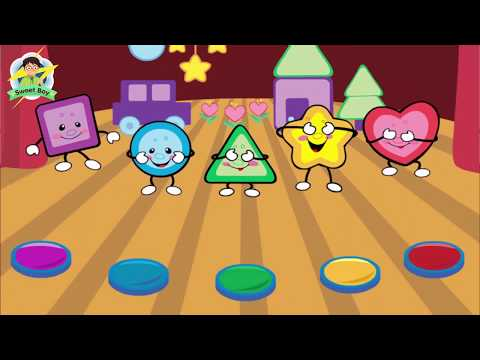 Learn Colors And Shapes, Learn Geometrical Shapes (Learn Square, Circle, Triangle, Star, Heart)