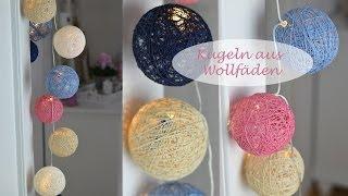 DIY - Kugeln für Lichterketten aus Wolle oder Häkelgarn / Cotton Balls