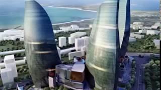 Construction of Flame Towers, Fairmont Baku