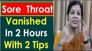 """""""Sore Throat (Throat Pain) Vanished in 2 Hours With These 2 Tips screenshot 3"""