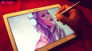 DRAWING YOUTUBER Taylor Hansen ON MY SAMSUNG GALAXY NOTE 10.1 2014 EDITION