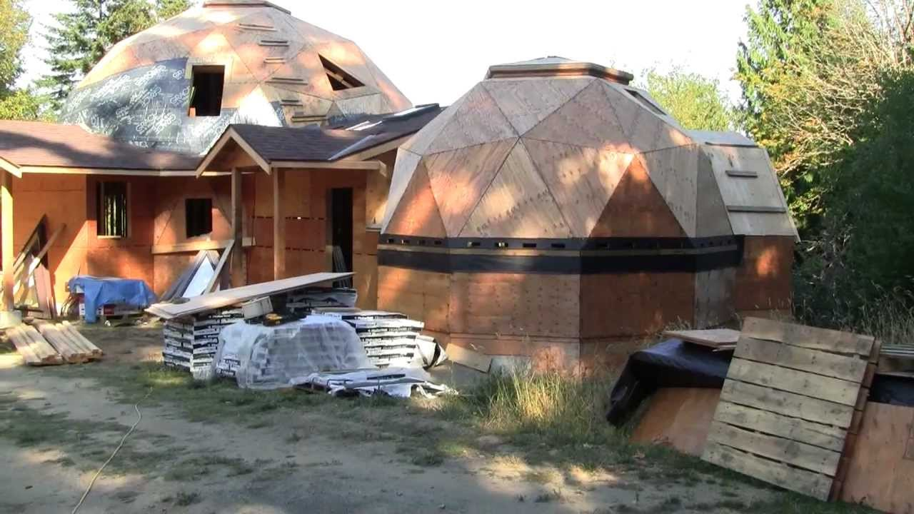 Geodesic Dome Home being built on Salt