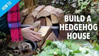 How to make a hedgehog house