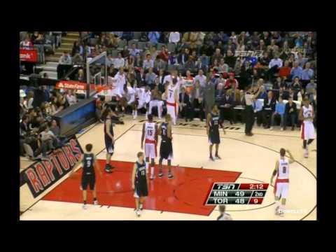 Andrea Bargnani highlights 31 pts Toronto Raptors vs Minnesota Timberwolves 97 87 01/09/2012