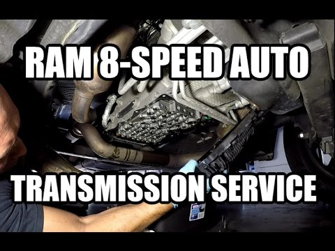 dodge ram  zf  speed automatic transmission fluid filter change youtube