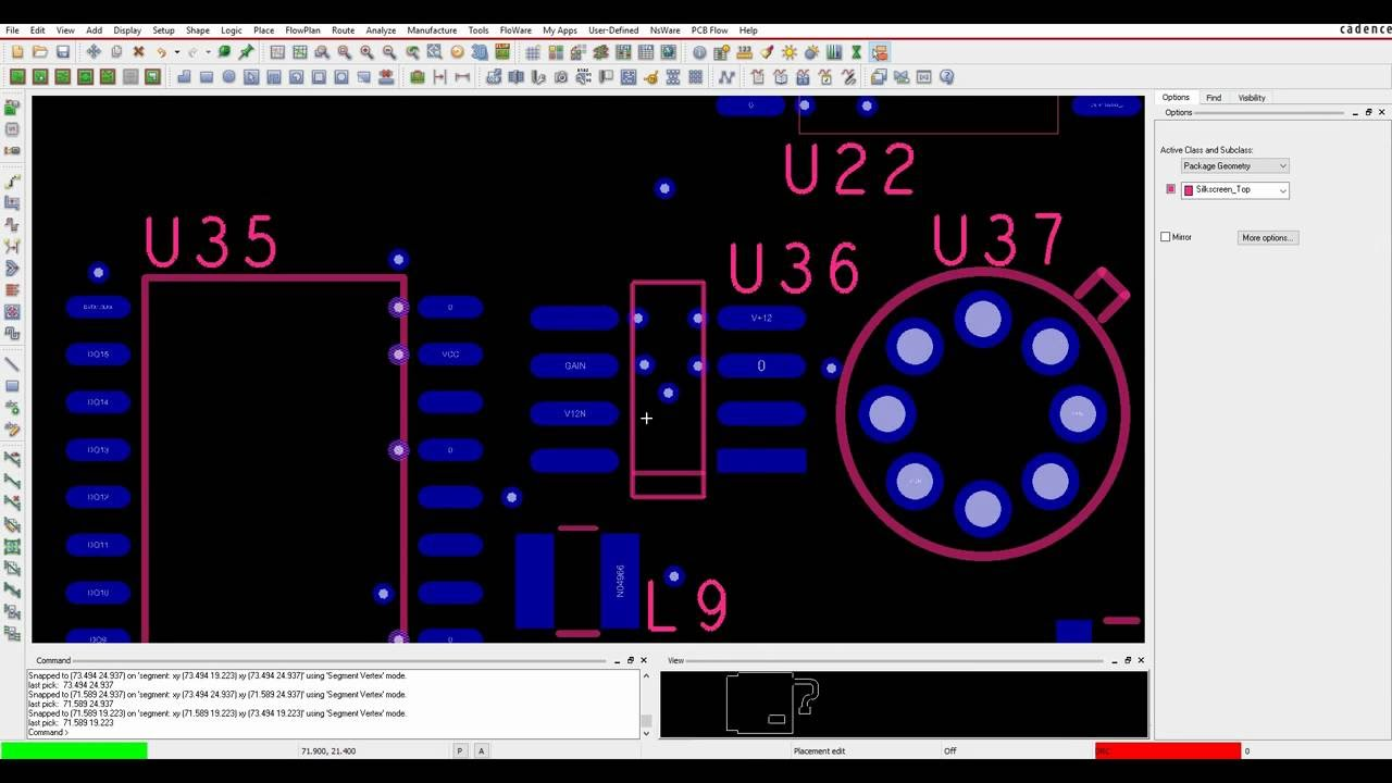Tutorial Cadence OrCAD and Allegro PCB Editor - Change Text Line Thickness