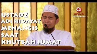 Ustadz Adi Hidayat Menangis saat Khutbah Jumat di Masjid Trans Studio Bandung