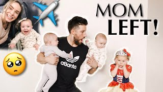 Mom took a triplet and left on plane | Dad left alone with 3 kids!