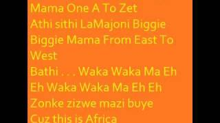 Baixar - Shakira Waka Waka This Time For Africa Official Wk Theme Song With Lyrics On Screen Grátis