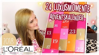 L'Oréal 24 LUXUSMOMENTE Adventskalender 2018