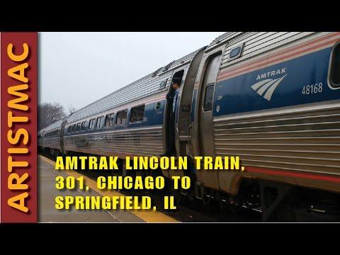 Amtrak Lincoln Passenger Train 301, Chicago to Springfield, IL