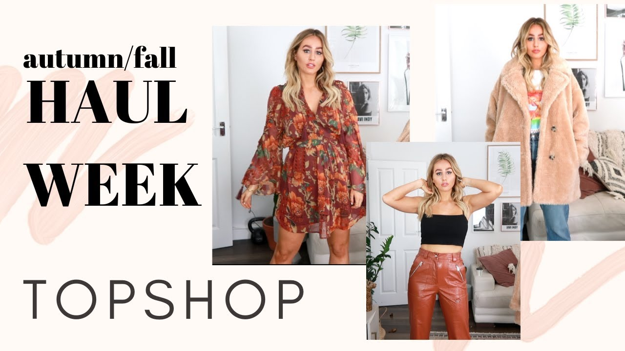 [VIDEO] - TOPSHOP HAUL & TRY ON - autum/fall haul week 1