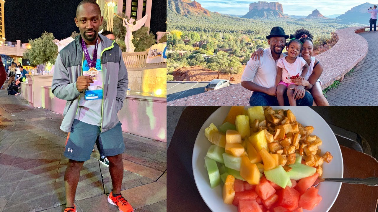 He ran a full Marathon on Plants + What We Ate while traveling [Vegan Food ideas]