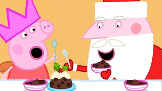 Peppa Pig Full Episodes   Peppa Pig Visits Santa's Grotto   Kids Videos