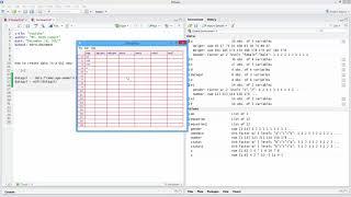 Wie Manuell Erstellen-Daten den GUI-Weg in R. [HD]
