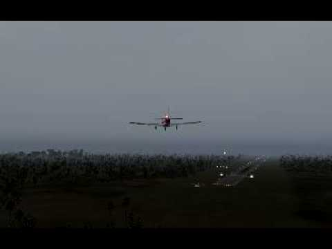 Landing a Comanche 250 aircraft in heavy winds on Norfolk Islands airport (YSNF)