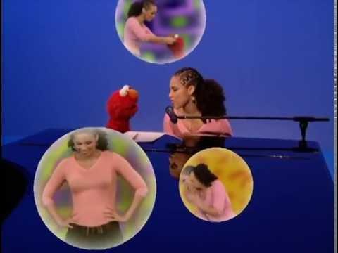 Alicia Keys with Elmo on Sesame Street - Dancin' (Fallin')