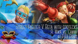 gootecks plays R. Mika vs. Cammy at PAX 2015 - 8/28/15 - Street Fighter V: Beta