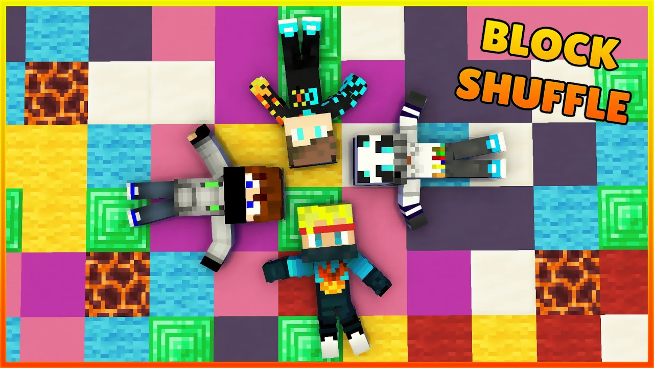 Minecraft Block Shuffle MiniGame With Friends | Bedrock Addon - Minecraft India