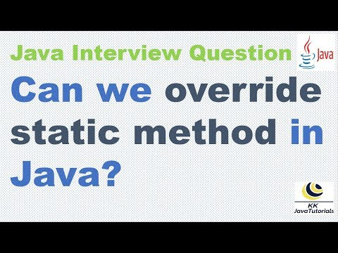 Can We Override Static Method In Java ? || Can We Override Static Method In Child Class?