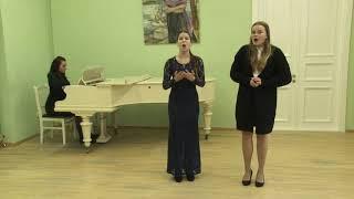 Карташова Анна и Пригарина Вероника академический вокал дуэт категория 14-17 лет 1 тур