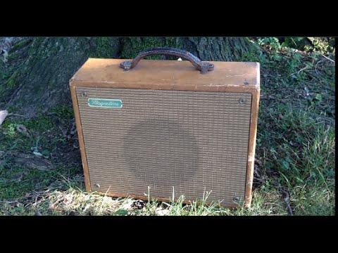 1955 Magnatone Starlet 107 Amp SERVICE & DEMO on