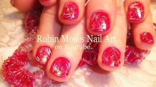 Diy Nail Art | Nail Art Foiling | Red Opal Flower Nails