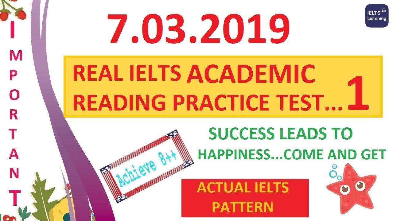 😜✌NEW IELTS ACADEMIC READING TEST [IMPORTANT ONE] WITH ANSWERS - 7 03 2019