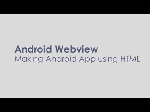 Make  App In 5 Minutes Using Android Webview (HTML/CSS/Javascript)
