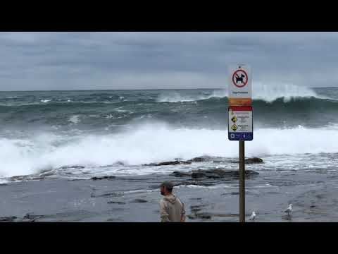 Surfers Enjoy Giant Waves Smashing Sydney Beaches