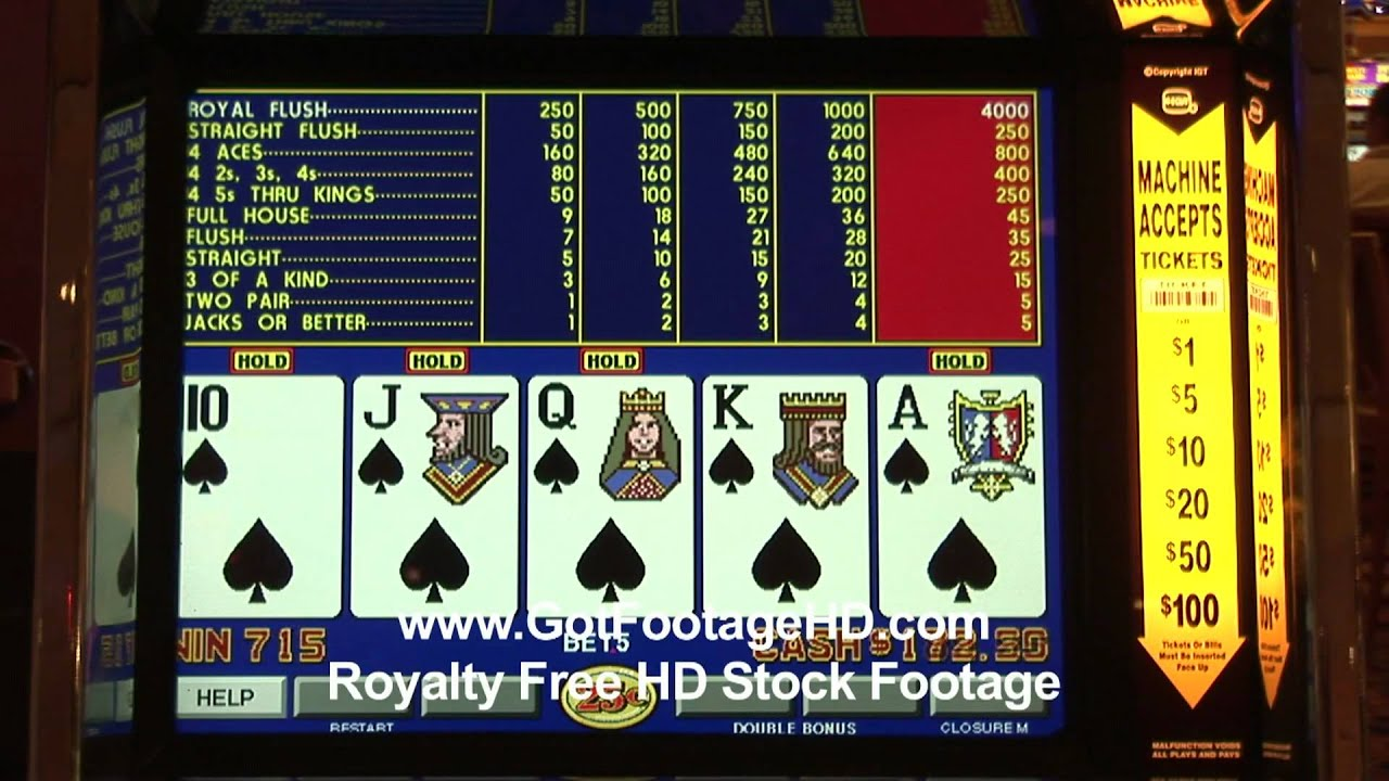 Sequentail Royal Flush on a Video Poker Machine in Las ...