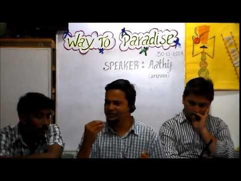 Tamil Islam Convert ஆதிஃப் (எ)  ஸ்ரீராம் Way to Paradise Class