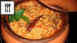Фасоль с мясом в горшочке по-турецки. Фасоль в томате / Guvecte etli kuru fasulye