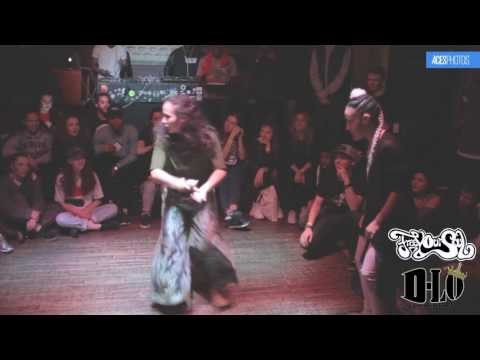 FREE YOUR SOUL 2on2 all styles BBOY MOUSE & MARiE KAAE Vs FfiON & SASKiA ( House of Absolute )