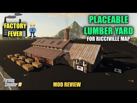 """Millers Placeable Lumber Yard """"Ricciville"""" Mod Review"""