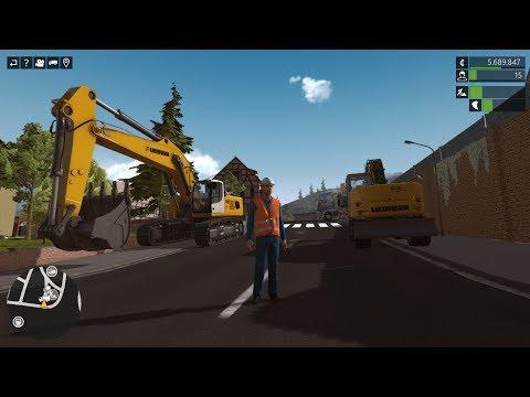 Liebherr A 918 & R 956 Excavators - Construction Simulator Deluxe Editon Gameplay |