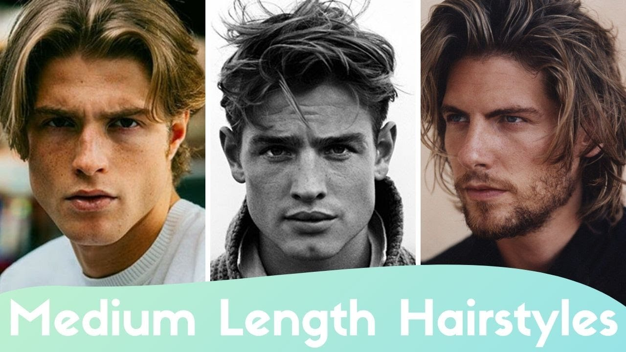 Best Men S Hairstyles For Medium Length Hair 12 Hairstyles For Growing Out Your Hair Youtube