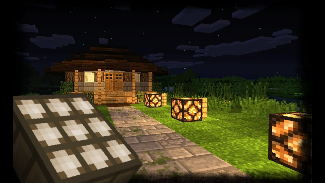 minecraft how to make lights that turn on at night